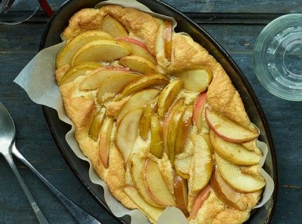 Omelette soufflée aux pommes et aux poires