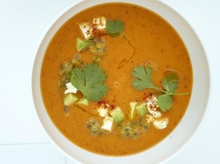 Gazpacho de carotte et d'ananas