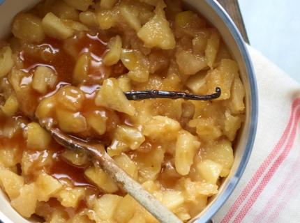 Compote de pomme au caramel au beurre salé