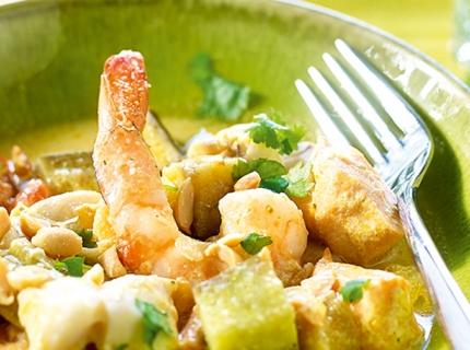 Curry de poissons aux légumes