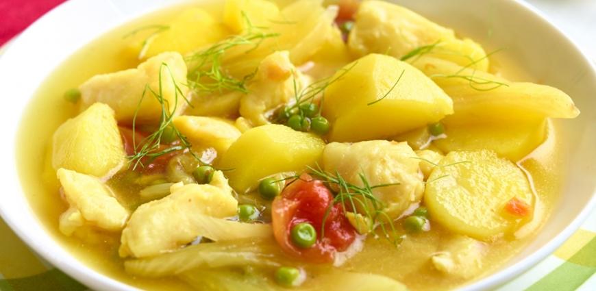 Cocotte de poisson au fenouil et aux pommes de terre