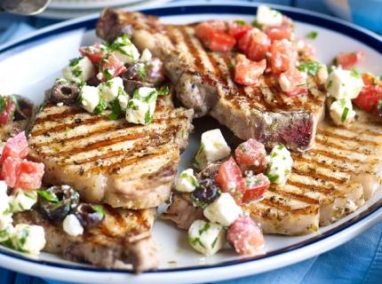Côtes de porc à la grecque