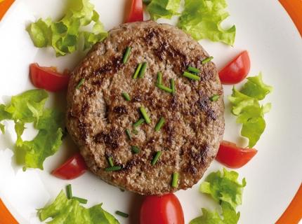 Burgers-tortue et pâtes aux petits légumes