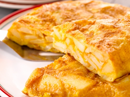Tortilla espagnole sans oignons