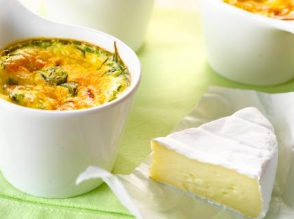 Petits flans au fromage et à la ciboulette