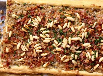 Tarte au risotto aux champignons des bois