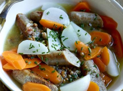 Soupe-repas aux saucisses de porc
