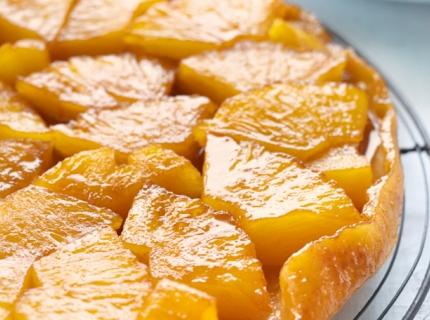 Tatin à l'ananas et au beurre salé