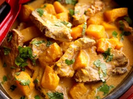 Curry de magret de canard au potimarron