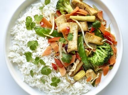 Curry thaï aux petits légumes et tofu
