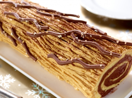 Bûche chocolat-caramel