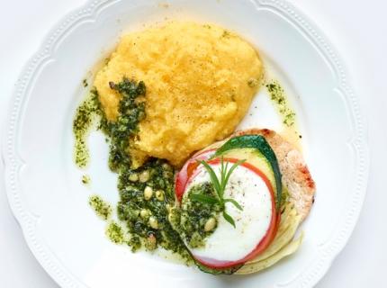 Millefeuille italien et polenta