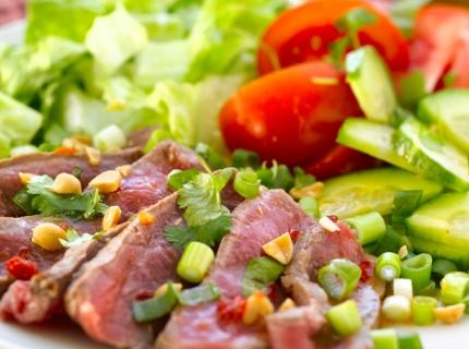 Salade de bœuf piquant