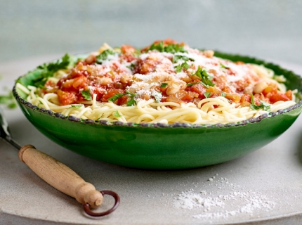 Spaghetti aux cannellinis
