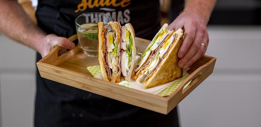 Club sandwich canard poulet