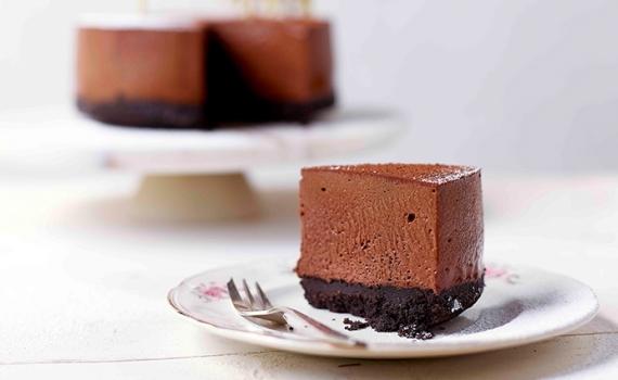 Gâteau de mousse au chocolat aux Oréo©