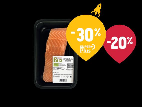 Filet de saumon écossais bio sans peau