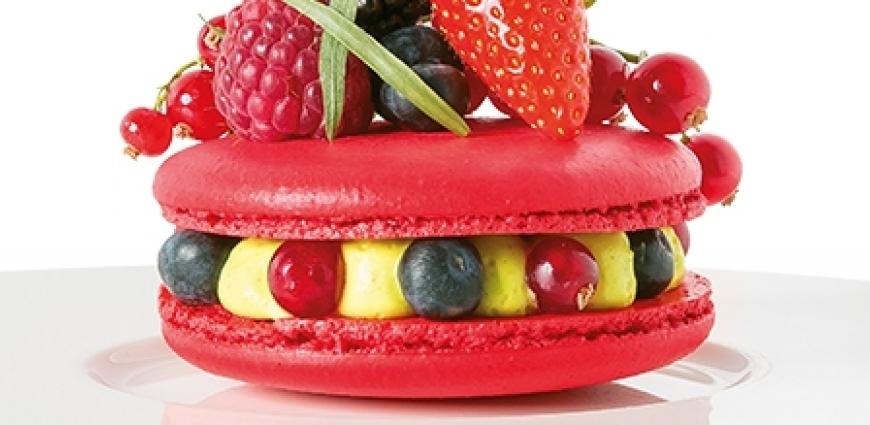 Macaron XXL aux fruits rouges