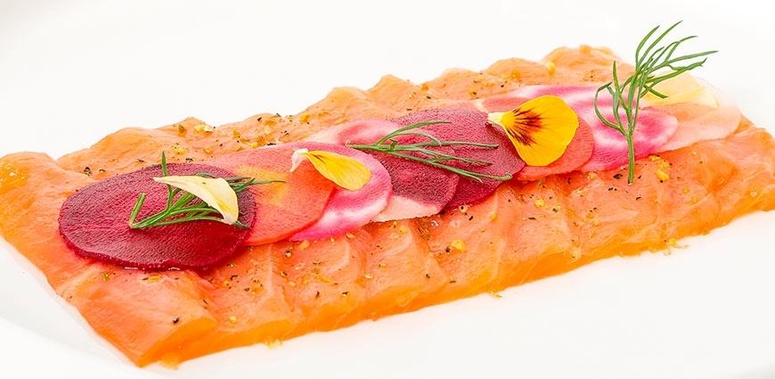 Saumon mariné lime pepper